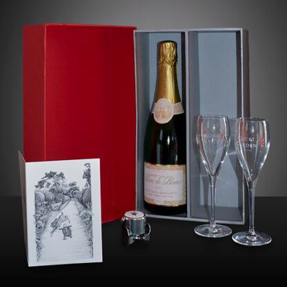 Sparkling Wine & Glasses Gift Box