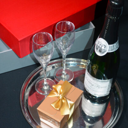 Sparkling Wine with Glasses and/or Chocolates