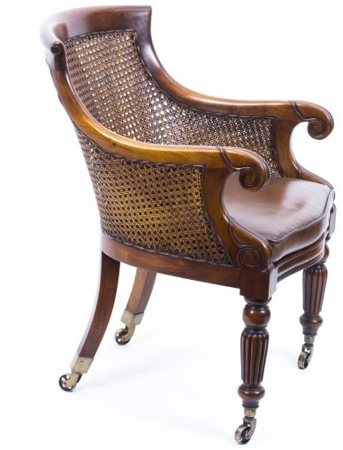 Caned library chairs