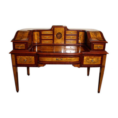 Satinwood & Rosewood Carlton House Desk