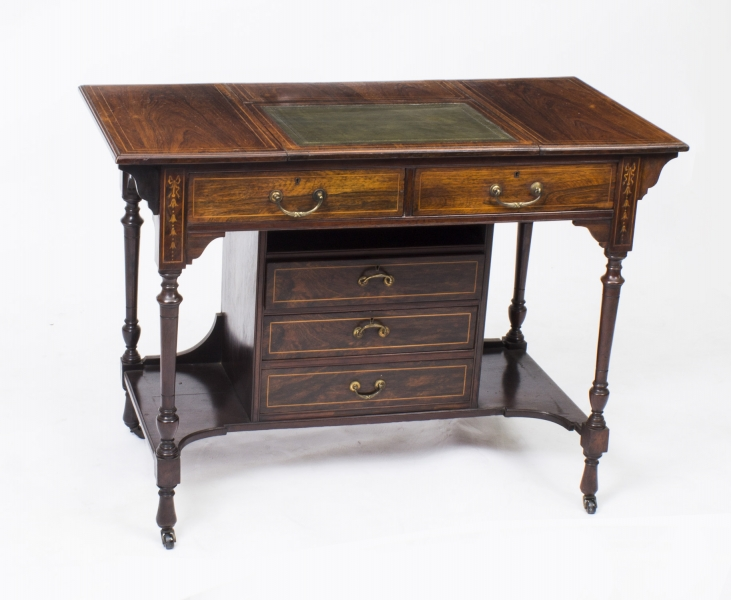 Antique Edwardian Writing Table or Desk c.1900