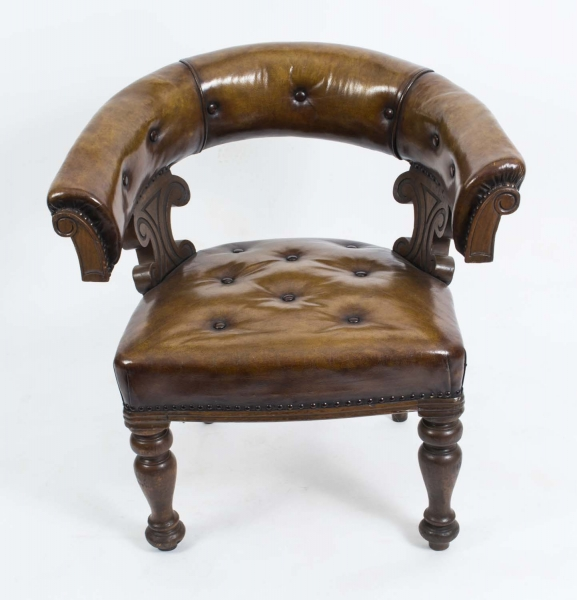Antique Tub Chair in Walnut
