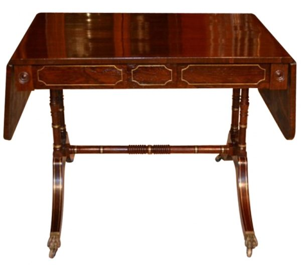 Antique Regency Sofa Table Rosewood with Brass Inlay c.1820 – Price £2850