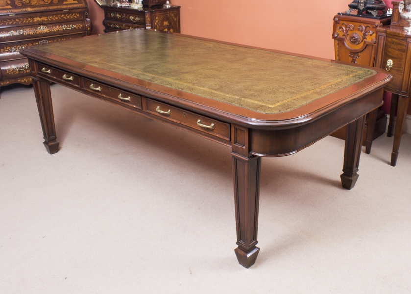 Antique Victorian Library Table