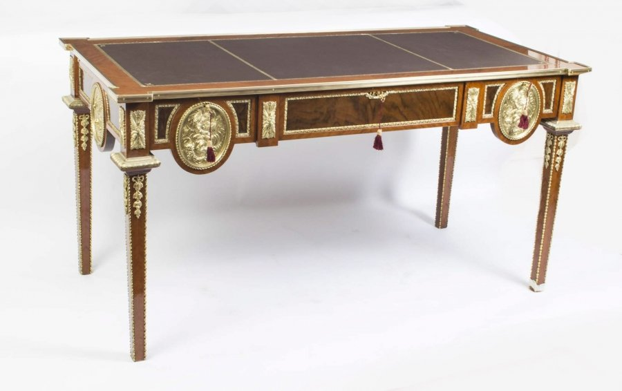 Empire Style Walnut Rosewood Ormolu Writing Table Price: £1850