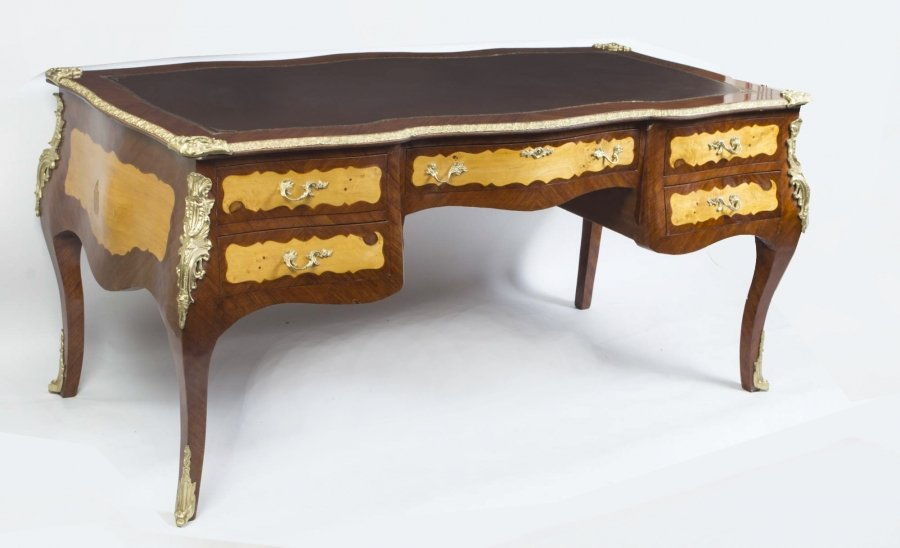Bombe Louis XV Style Bureau Plat Writing Table Desk Price: £1550