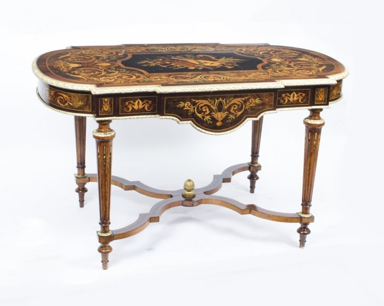 Antique Marquetry Bureau Plat Writing Table French c.1850 Price: £5250