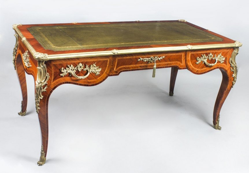 French Louis Revival Kingwood & Ormolu Antique Bureau Plat Desk 19th C Price: £7550
