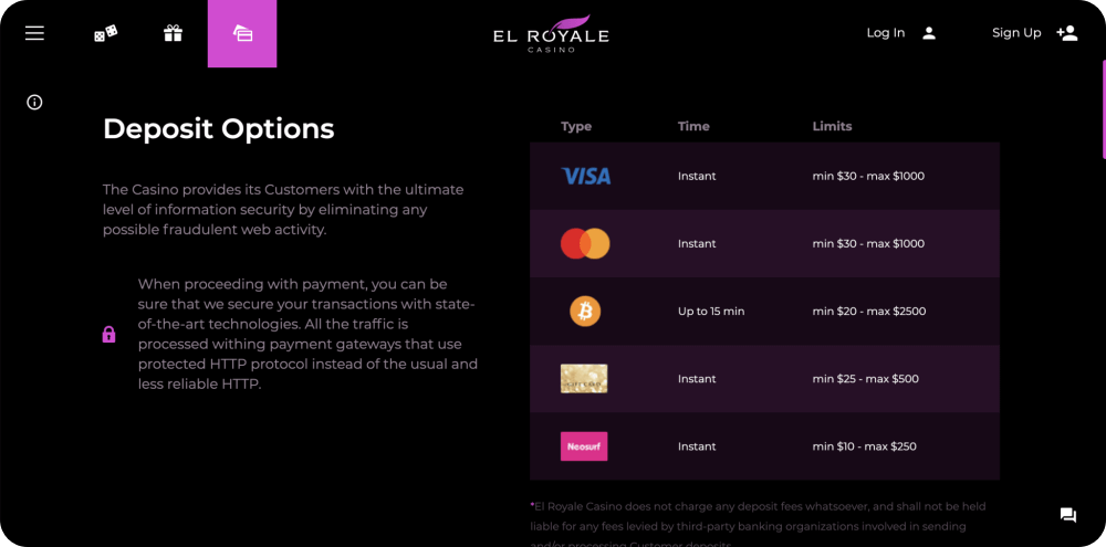 el royale online casino review