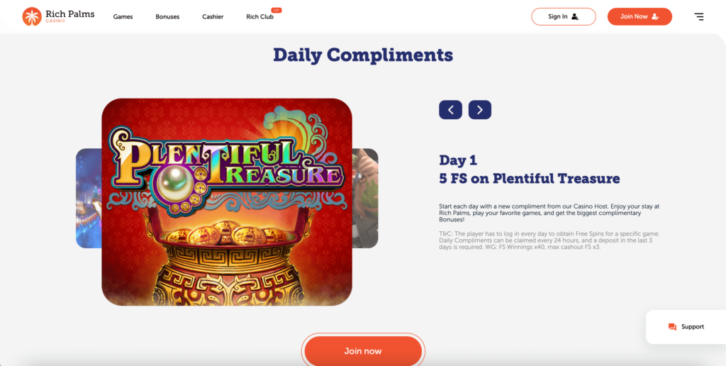Rich Palms Online Casino Review