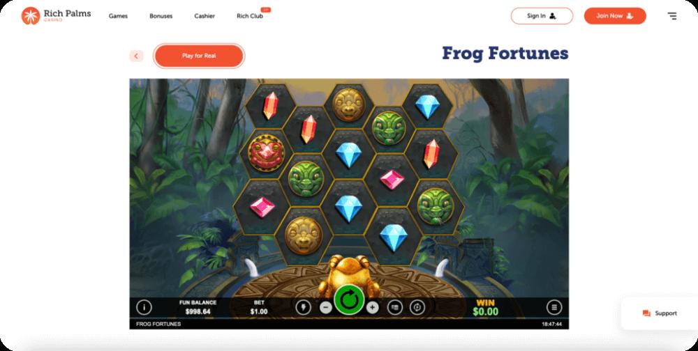 Frog Fortunes RTG Slot Game