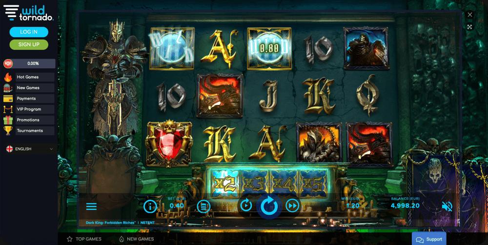 Dark King: Forbidden Riches NetEnt slot game