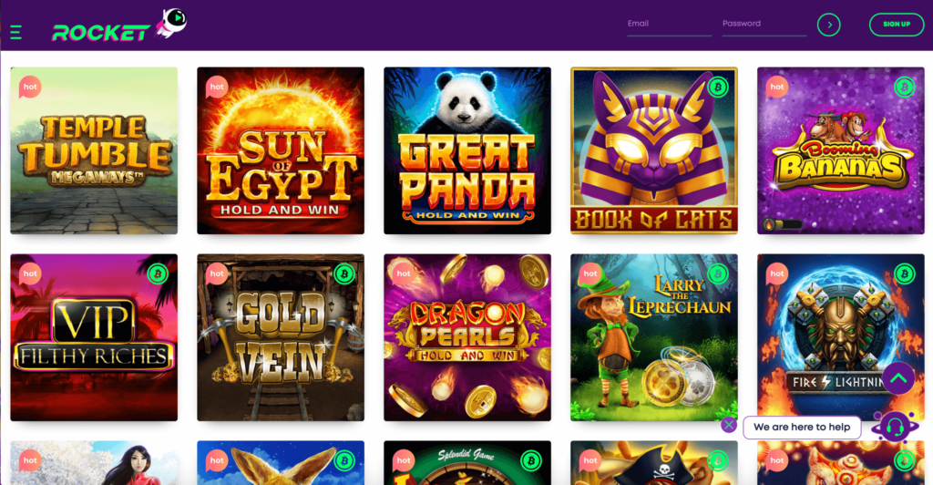 Casino Rocket Game Selection