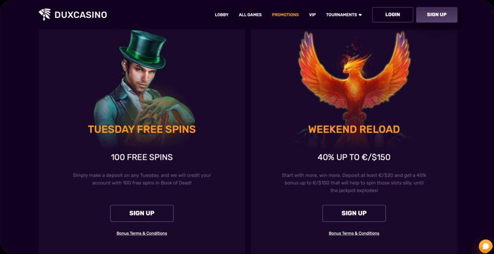 Duxcasino online casino review