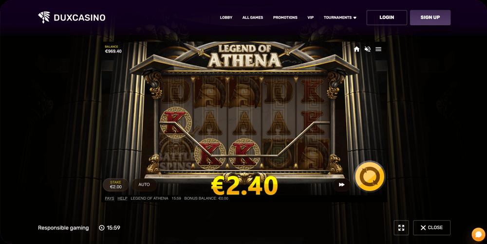 Legend of Athena slot game Red Tiger