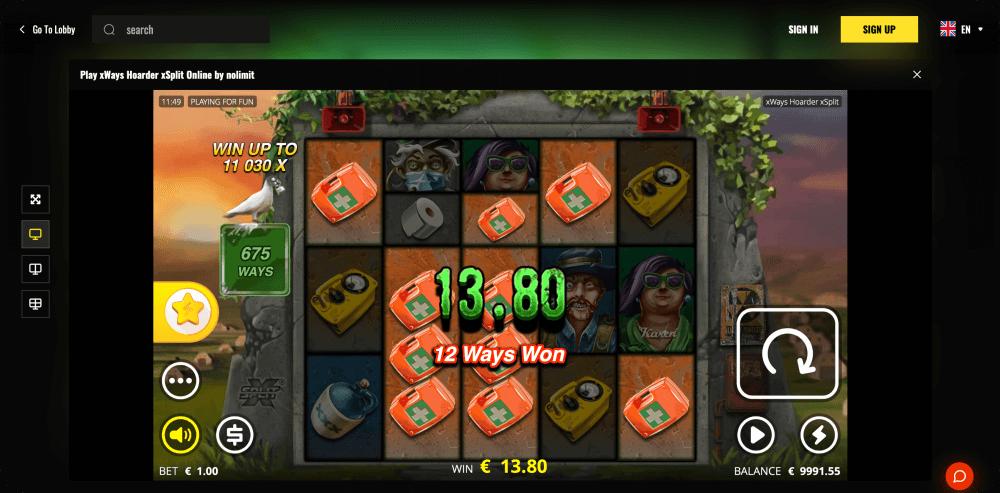 xWays Hoarder xSplit Slot Game Nolimit City