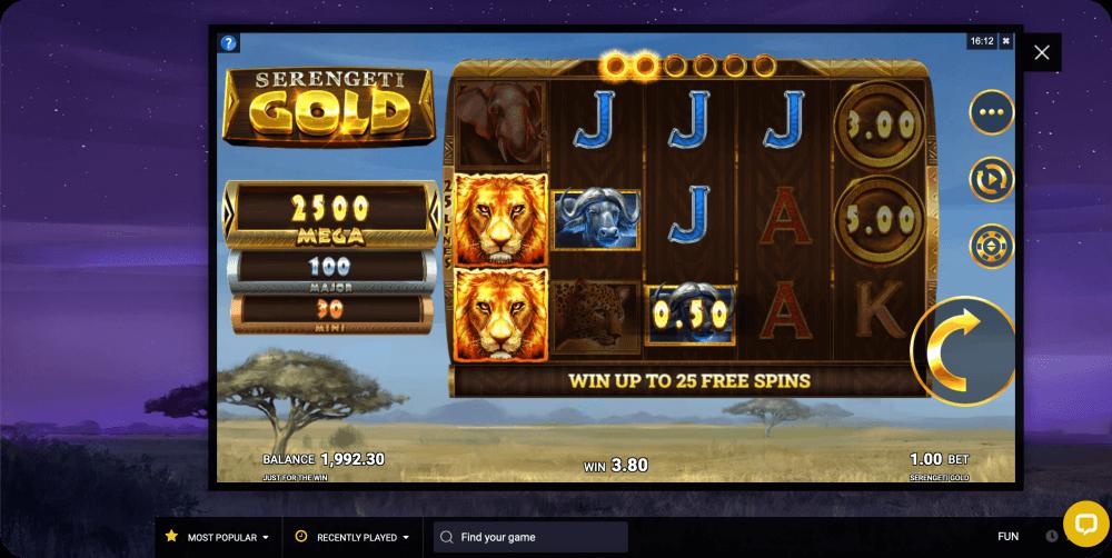 Serengeti Gold Microgaming Slot Game