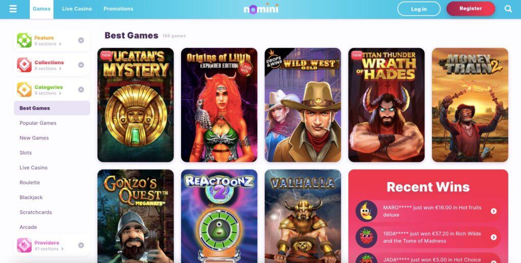 Nomini Game Providers