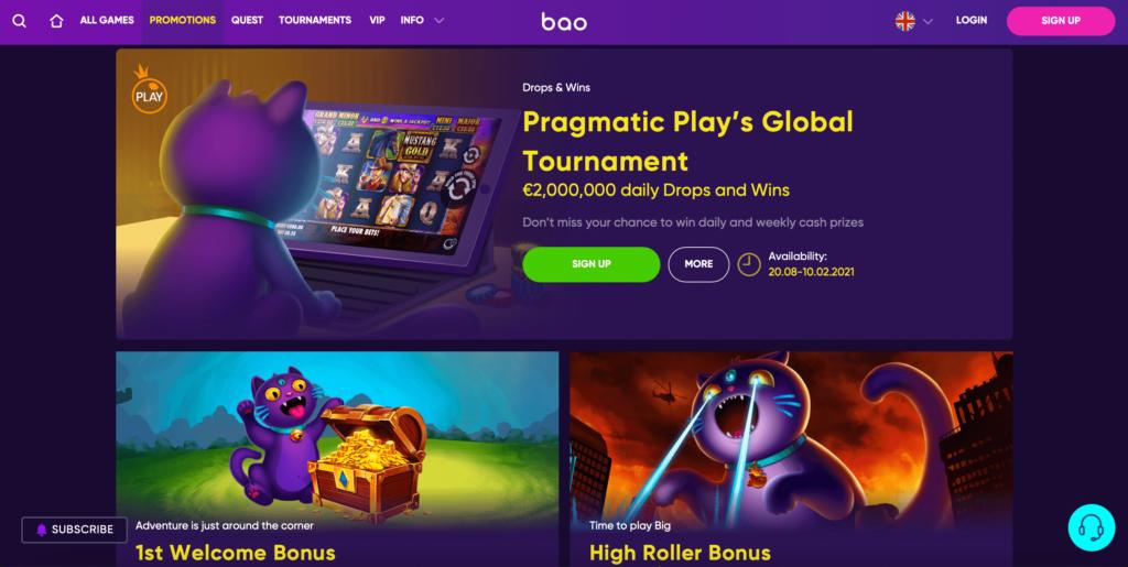 Bao Casino Promotions and Welcome Bonus