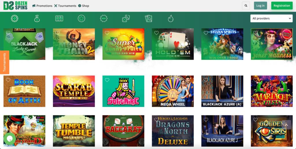DozenSpins Casino Games