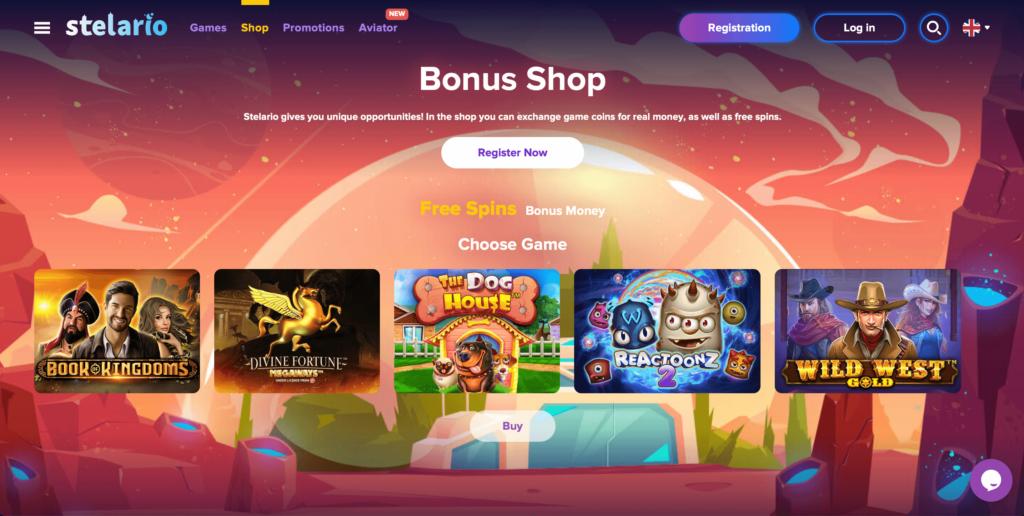 Stelario Promotions Bonus Shop