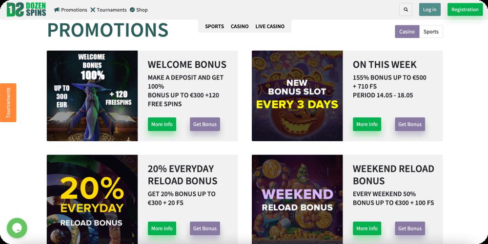 dozenspins online casino review