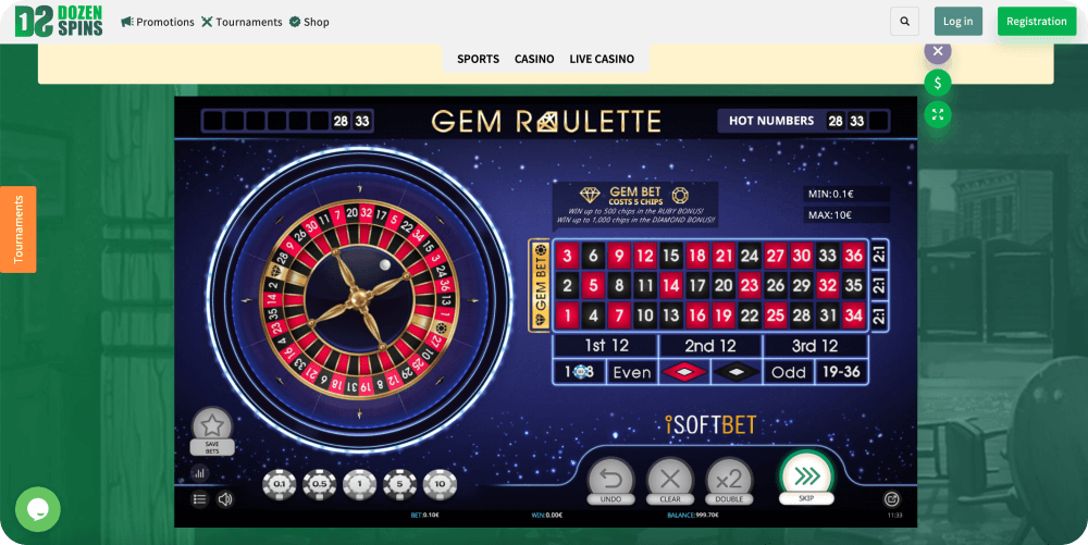 gem roulette isoftbet table game