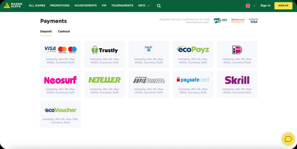 online casino deposit money