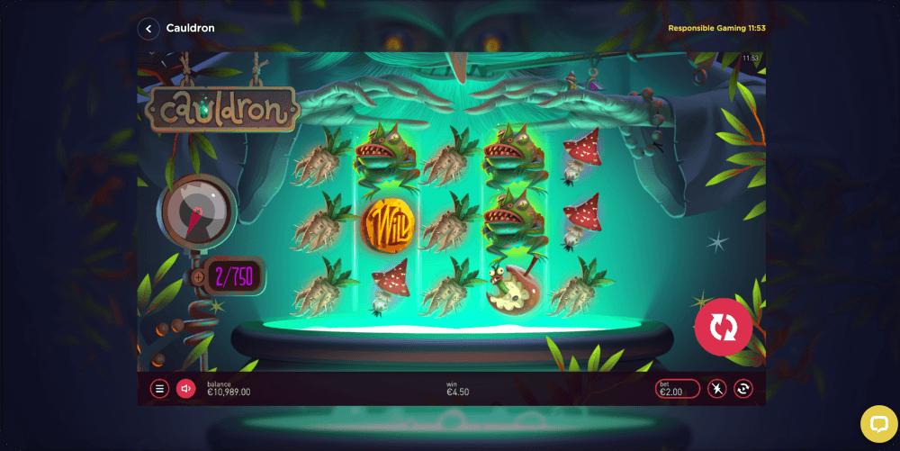 cauldron slot game Petersons