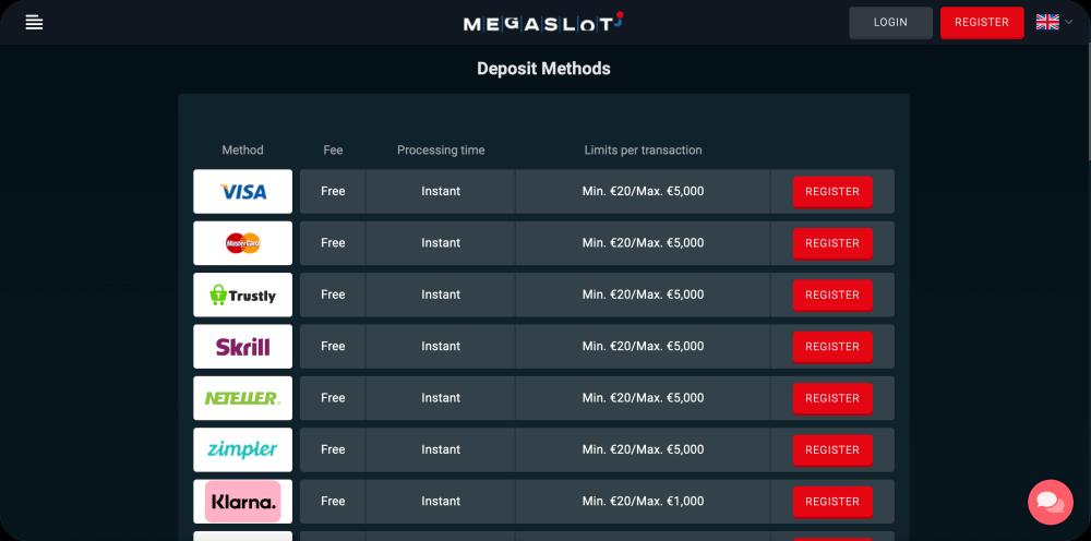 online deposit casino