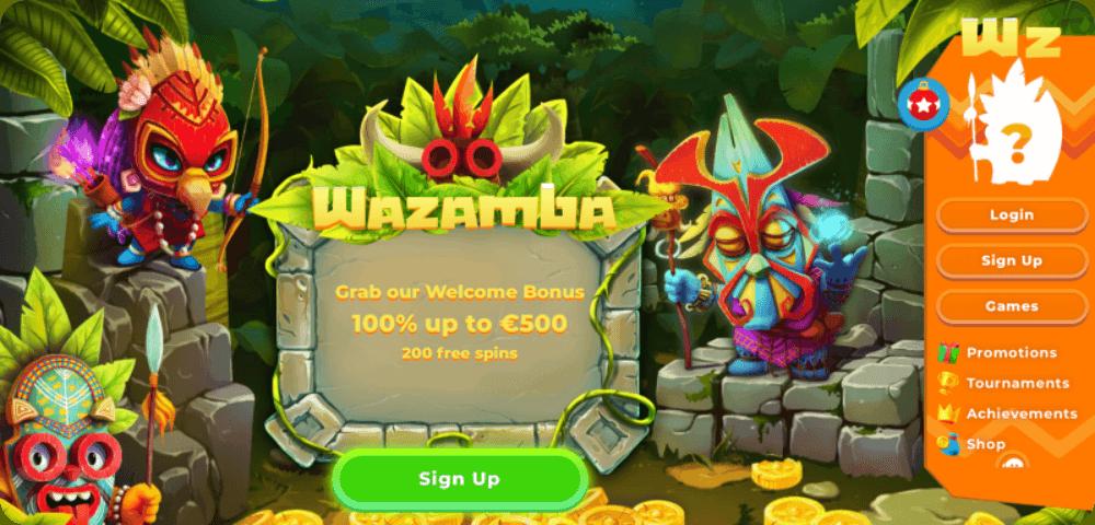 Wazamba sign up