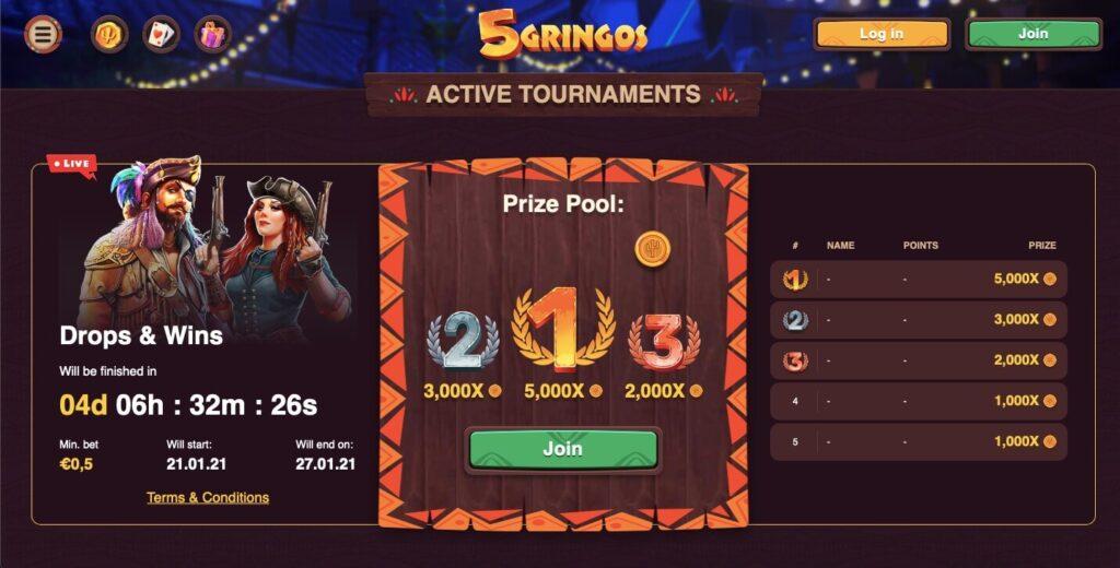 5Gringos Casino Tournaments