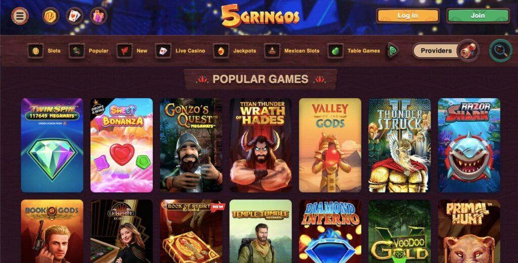 5Gringos Casino Games