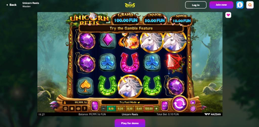 Wazdan Unicorn Reels Slot Game