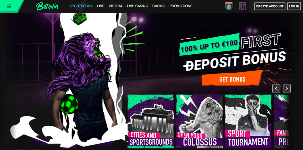 Betinia Sportsbook Welcome Bonus