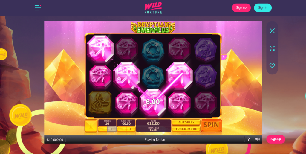 Egyptian Emeralds Playtech Slot Game