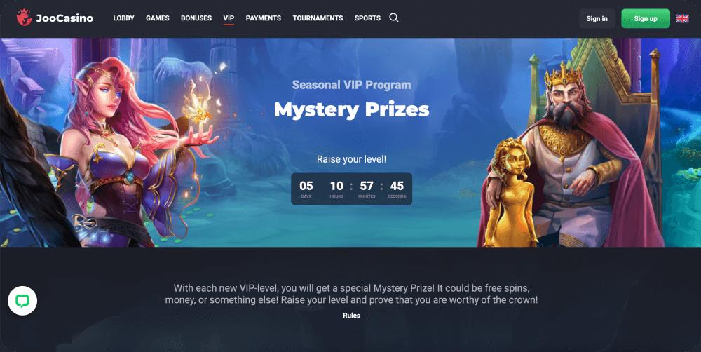 casino mystery prizes