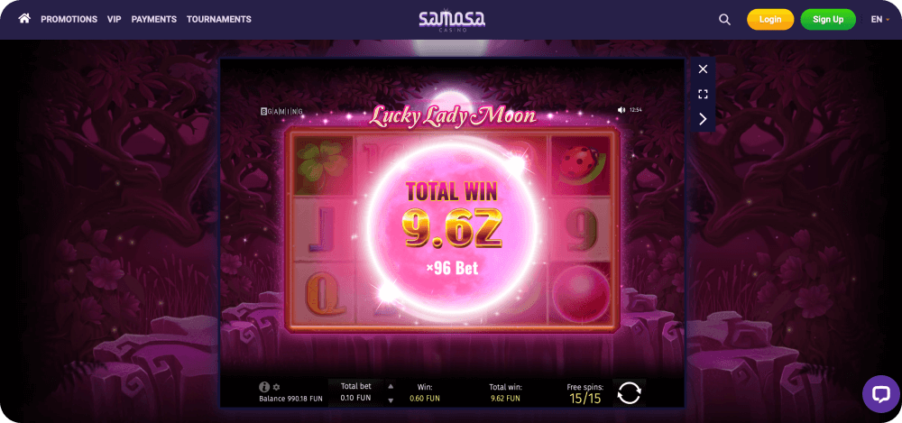 lucky lady moon slot game gaming