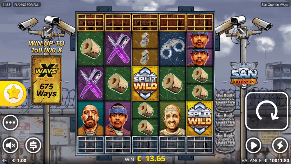 San Quentin xWays Nolimit City Casino Slot Game