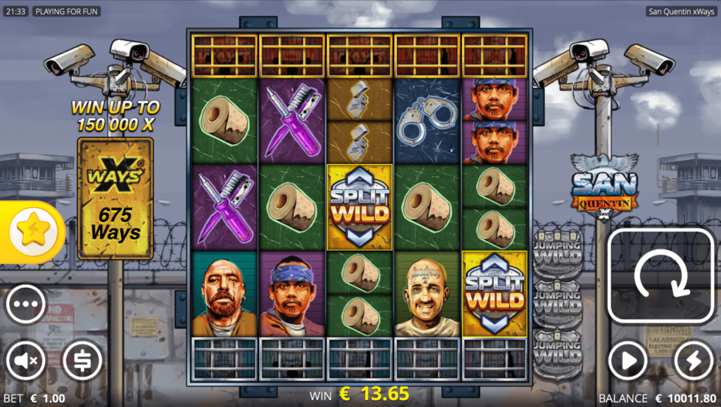 San Quentin xWays Nolimit City Casino Slot Game