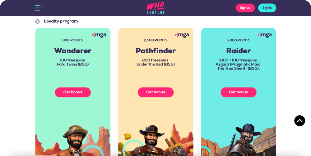 wild fortune online casino review