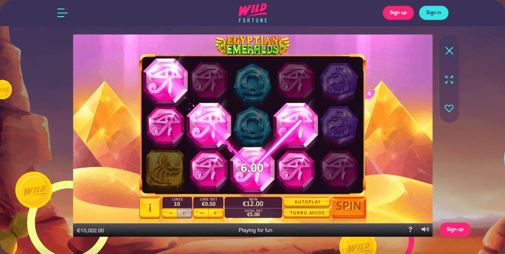 Egyptian Emeralds Playtech Slot Game