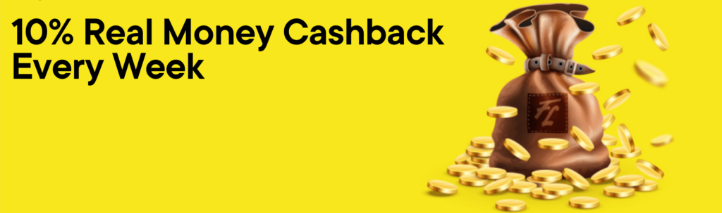 Fortune Legends Cashback Promotion