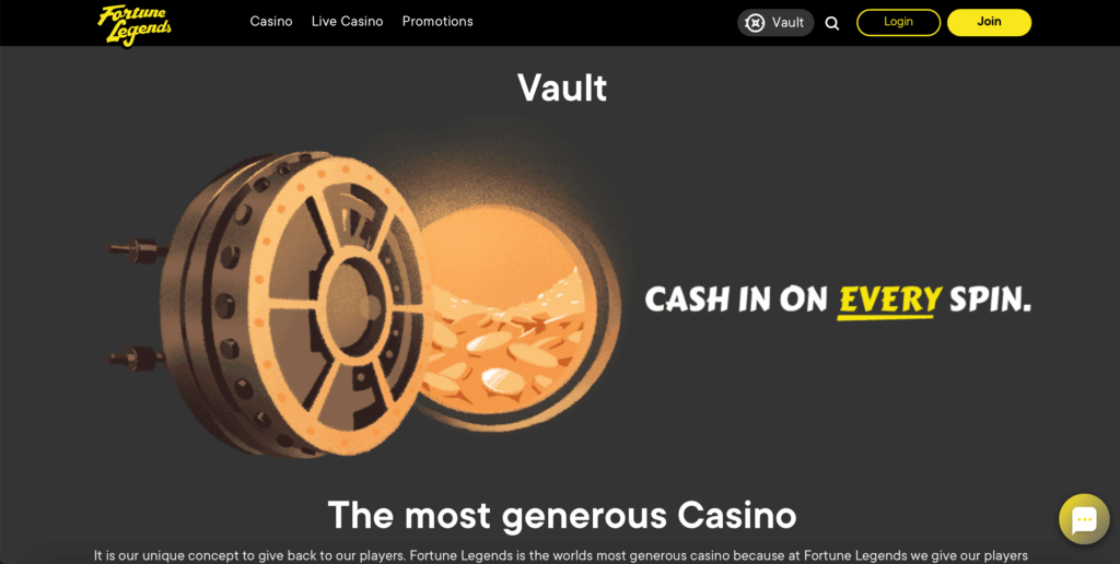 Fortune Legends Vault