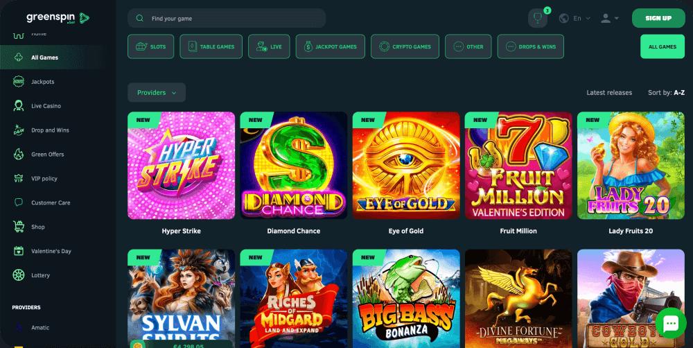 Greenspin.bet Online Casino Review