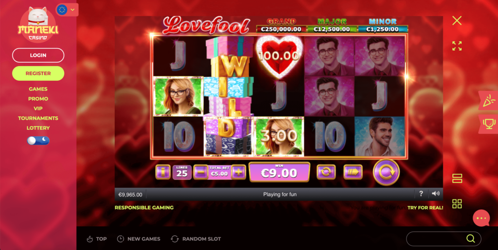 Playtech Lovefool Online Casino Slot Game