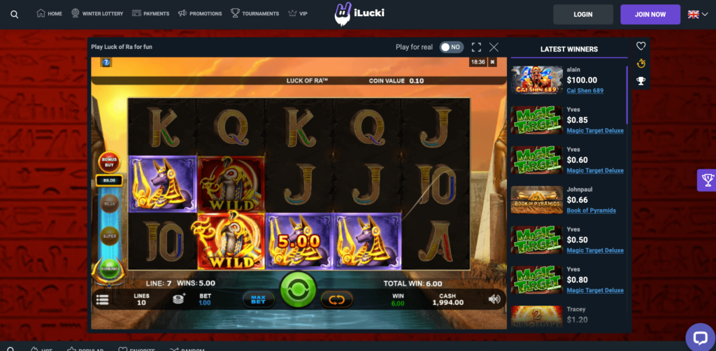 Microgaming Luck of Ra Slot Game