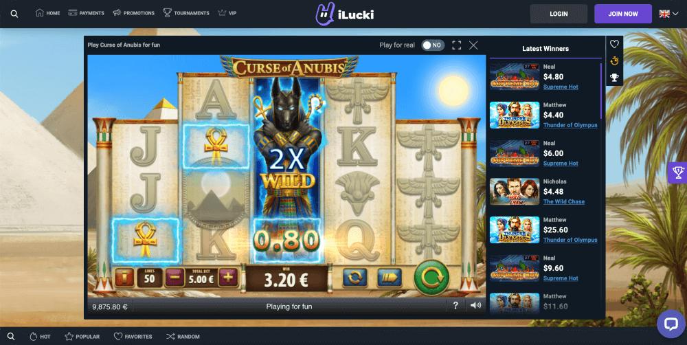 Playtech curse of Anubis slot game