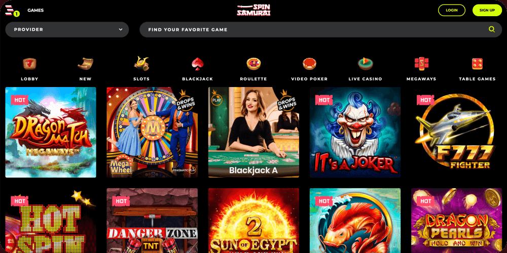 spin samurai online casino review