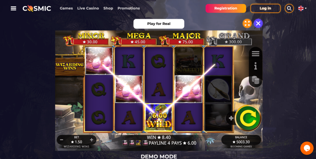 Wizarding Wins Booming Games Slot